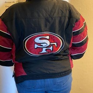 49ers authentic puff jacket